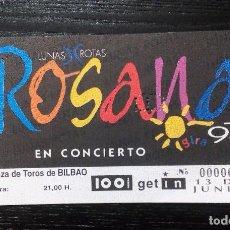Entradas de Conciertos: ROSANA ENTRADA INVITACIÓN COMPLETA. BILBAO. GIRA 97. LUNAS ROTAS. Lote 96764479