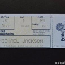 Entradas de Conciertos: ENTRADA CONCIERTO - TICKET - MICHAEL JACKSON - STOCKHOLM - 18 JULIO 1992. Lote 151914676