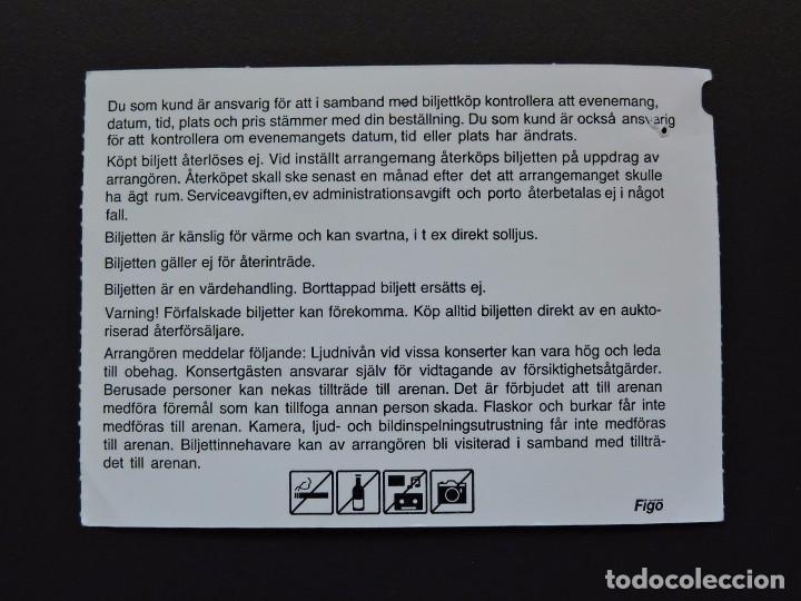 Entradas de Conciertos: ENTRADA CONCIERTO - TICKET - BRITNEY SPEARS - 13 JULIO 2009 - STOCKHOLM ERICSSON GLOBE - Foto 2 - 97461439