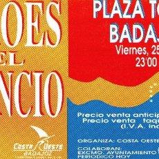 Entradas de Conciertos: HEROES DEL SILENCIO - ENTRADA DE CONCIERTO 1990. Lote 97644927