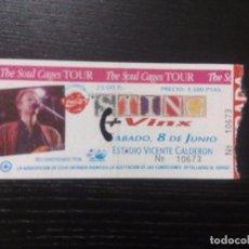 Entradas de Conciertos: STING + VINX THE SOUL CAGES TOUR. VICENTE CALDERON ENTRADA ORIGINAL . Lote 97703515