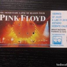 Entradas de Conciertos: PINK FLOYD ENTRADA ORIGINAL THE MOMENTARY LAPSE OF REASON TOUR VICENTE CALDERÓN, 1988 . Lote 97704215
