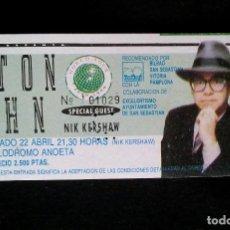 Entradas de Conciertos: ELTON JOHN.. Lote 97967155