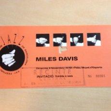 Entradas de Conciertos: MILES DAVIS. Lote 96541719