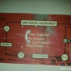 Entradas de Conciertos: PETER GABRIEL. Lote 98615507
