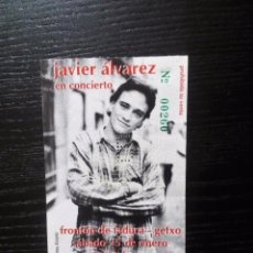 Entradas de Conciertos: JAVIER ÁLVAREZ INVITACIÓN ORIGINAL CONCIERTO EN GETXO. COMPLETA. VER FOTOS. Lote 99414387