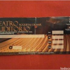 Entradas de Conciertos: ENTRADA DE TEATRO ROQUETAS DE MAR. Lote 100646619