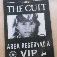 Entradas de Conciertos: THE CULT CONCIERTO VALENCIA ESPAÑA AÑO 1991. Lote 101617096