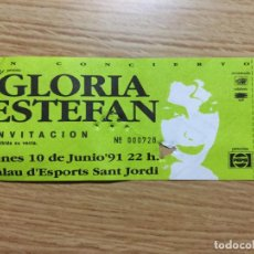 Entradas de Conciertos: ENTRADA CONCIERTO GLORIA ESTEFAN 1991 BARCELONA. Lote 102457571