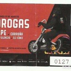 Entradas de Conciertos: ENTRADA EL DROGAS + SINKOPE. TORRELAVEGA. Lote 102482999