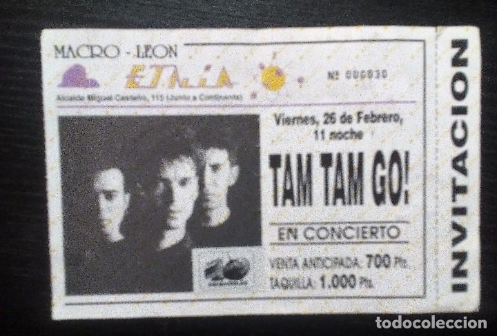 TAM TAM GO! ENTRADA ORIGINAL COMPLETA MACRO-LEÓN (Música - Entradas)