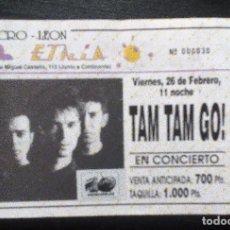 Entradas de Conciertos: TAM TAM GO! ENTRADA ORIGINAL COMPLETA MACRO-LEÓN. Lote 104029163