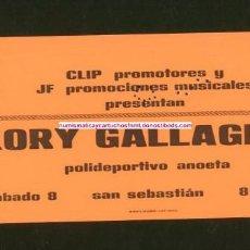 Entradas de Conciertos: RORY GALLAGHER SAN SEBASTIÁN 1975 ENTRADA DE CONCIERTO NUEVA. Lote 104508807
