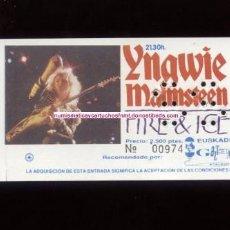 Entradas de Conciertos: YNGWIE MALMSTEEN SAN SEBASTIÁN 1992 FIRE & ICE ENTRADA DE CONCIERTO NUEVA. Lote 236707670