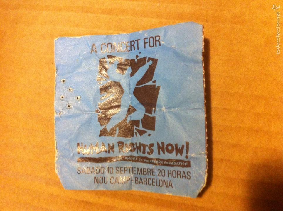 Entradas de Conciertos: BRUCE SPRINGSTEEN- ENTRADA CONCIERTO BARCELONA 1988- CAMP NOU-STING-PETER GABRIEL-Human rights now - Foto 3 - 105481495