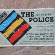 Entradas de Conciertos: ENTRADA COMPLETA THE POLICE. MADRID.-. Lote 106098459