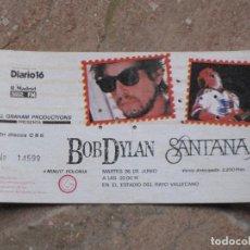 Entradas de Conciertos: ENTRADA CONCIERTO BOB DYLAN Y SANTANA. ESTADIO DEL RAYO VALLECANO - MADRID.. Lote 106384499