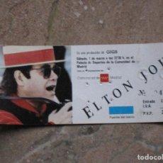 Entradas de Conciertos: ENTRADA CONCIERTO DE ELTON JOHN - MADRID.. Lote 106398371