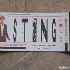 Entradas de Conciertos: ENTRADA CONCIERTO DE STING - MADRID.. Lote 106404871