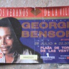 Entradas de Conciertos: ENTRADA CONCIERTO DE GEORGE BENSON - MADRID.. Lote 106576351