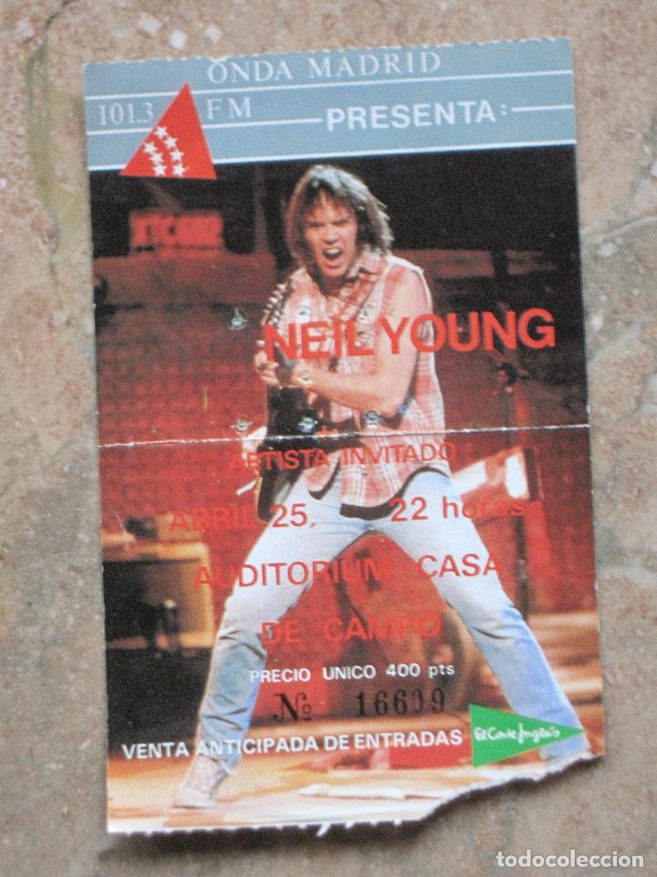 ENTRADA CONCIERTO DE NEIL YOUNG - MADRID. (Música - Entradas)