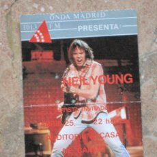 Entradas de Conciertos: ENTRADA CONCIERTO DE NEIL YOUNG - MADRID.. Lote 106577619