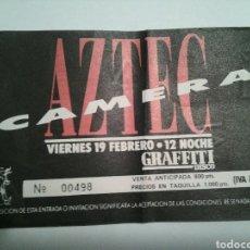 Entradas de Conciertos: AZTEC CAMERA.ENTRADA CONCIERTO.GRAFFITI DISCO.MURCIA.AÑOS 80. Lote 107232931