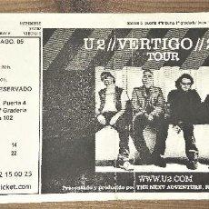 Entradas de Conciertos: U2 7 AGOSTO 2005 GIRA VERTIGO ,CAMP NOU (BCN). Lote 107822351