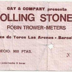 Entradas de Conciertos: ROLLING STONES ENTRADA CONCIERTO 1975 BARCELONA. Lote 109363139