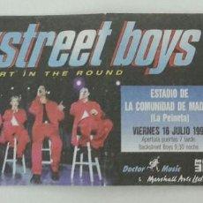 Entradas de Conciertos: ENTRADA CONCIERTO BACK STREET BOYS 1999. Lote 109402527