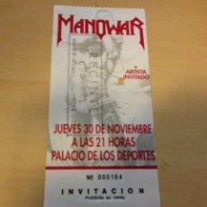 Entradas de Conciertos: MANOWAR - INVITACIÓN CONCIERTO EN BARCELONA. Lote 109497760
