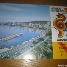 Bilhetes de Concertos: TARJETA ENTRADA MUSICAL MALLORCA 1978 AUDITORIUM. Lote 110739890