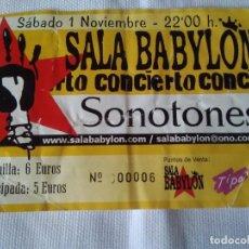 Entradas de Conciertos: 33-ENTRADA CONCIERTO SONOTONES-ASTURIAS. Lote 111924251