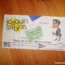 Entradas de Conciertos: ENTRADA CONCIERTO JOAQUIN SABINA. Lote 112022103