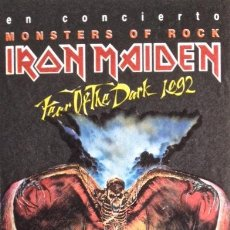 Entradas de Conciertos: IRON MAIDEN MONSTERS OF ROCK. ENTRADA BARCELONA (90S) SIN USAR.. Lote 194620397