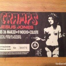 Entradas de Conciertos: THE CRAMPS. TICKET ENTRADA BARCELONA. Lote 112868219