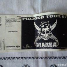 Entradas de Conciertos: 36-ENTRADA MAREA, PIOJOSO TOUR, VALLADOLID 2007. Lote 113367611