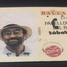 Entradas de Conciertos: ENTRADA ORIGINAL DEL CONCIERTO DE LUCIO DALLA GIANNI MORANDI PABELLON REAL MADRID 8 ABRIL 1989. Lote 114170523