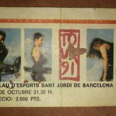 Entradas de Conciertos: ENTRADA CONCIERTO MECANO TOUR 91 - TOUR AIDALAI - 1 OCTUBRE 91 - PALAU SANT JORDI BARCELONA. Lote 115298835