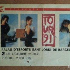 Entradas de Conciertos: ENTRADA CONCIERTO MECANO TOUR 91 - TOUR AIDALAI - 2 OCTUBRE 91 - PALAU SANT JORDI BARCELONA 1991. Lote 115298931