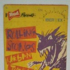 Entradas de Conciertos: ENTRADA ORIGINAL CONCIERTO ROLLING STONES URBAN JUNGLE TOUR 14/6/1990. Lote 115303955