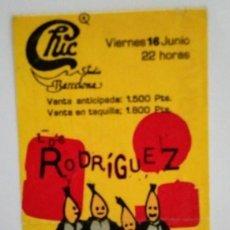 Entradas de Conciertos: ENTRADA ORIGINAL LOS RODRIGUEZ LA BANDA DE ARIEL ROT Y ANDRÉS CALAMARO. Lote 115308095