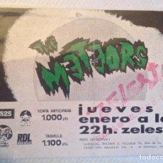 Entradas de Conciertos: THE METEORS ENTRADA BCN ZELESTE ANTIGUO. Lote 115607939