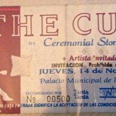 Entradas de Conciertos: THE CULT ENTRADA BCN. Lote 115608443