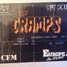 Entradas de Conciertos: THE CRAMPS ENTRADA MONTPELLIER (F). Lote 115609335