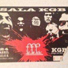 Entradas de Conciertos: FFF ENTRADA BCN SALA KGB. Lote 115616507