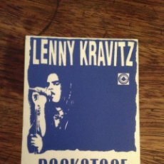 Entradas de Conciertos: LENNY KRAVITZ PASE TELA ADHSVO SIN USAR BACKSTAGE. Lote 115819995