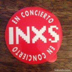 Entradas de Conciertos: INXS. ADHESIVO SIN PEGAR. BUEN ESTADO. Lote 117215351