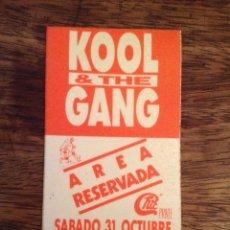 Entradas de Conciertos: KOOL & THE GANG. PASE AREA RESERVADA. BUEN ESTADO. Lote 117215455