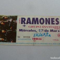 Entradas de Conciertos: ENTRADA ORIGINAL ANTIGUA CONCIERTO RAMONES EN SALA ZELESTE DE BARCELONA. Lote 117439643